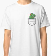 Apu Apustaja in tee pocket PepeTheFrog The Helper Hat Sad crying pepe the frog me smart Kekistan wall eyed pepe HD HIGH QUALITY ONLINE STORE Classic T-Shirt