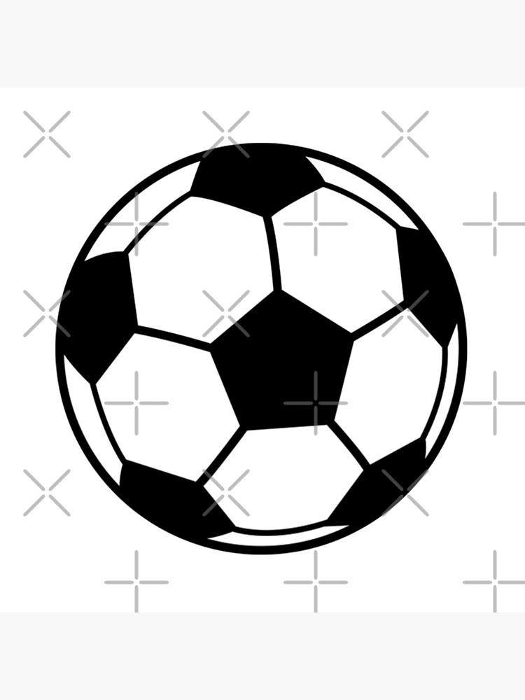 Eine Einfache Fussball Oder Fussball Grafik Galeriedruck