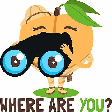 Where Are You Peach Emoji by joypixels