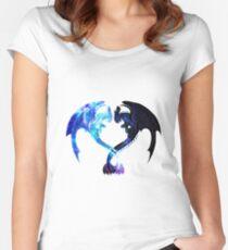 Drachenherz (zahnlos und leichte Wut) Tailliertes Rundhals-Shirt