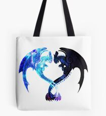 Dragon Heart (Toothless and Light Fury) Tote Bag