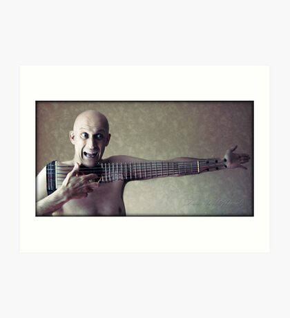the ballad of Mr Strings Art Print
