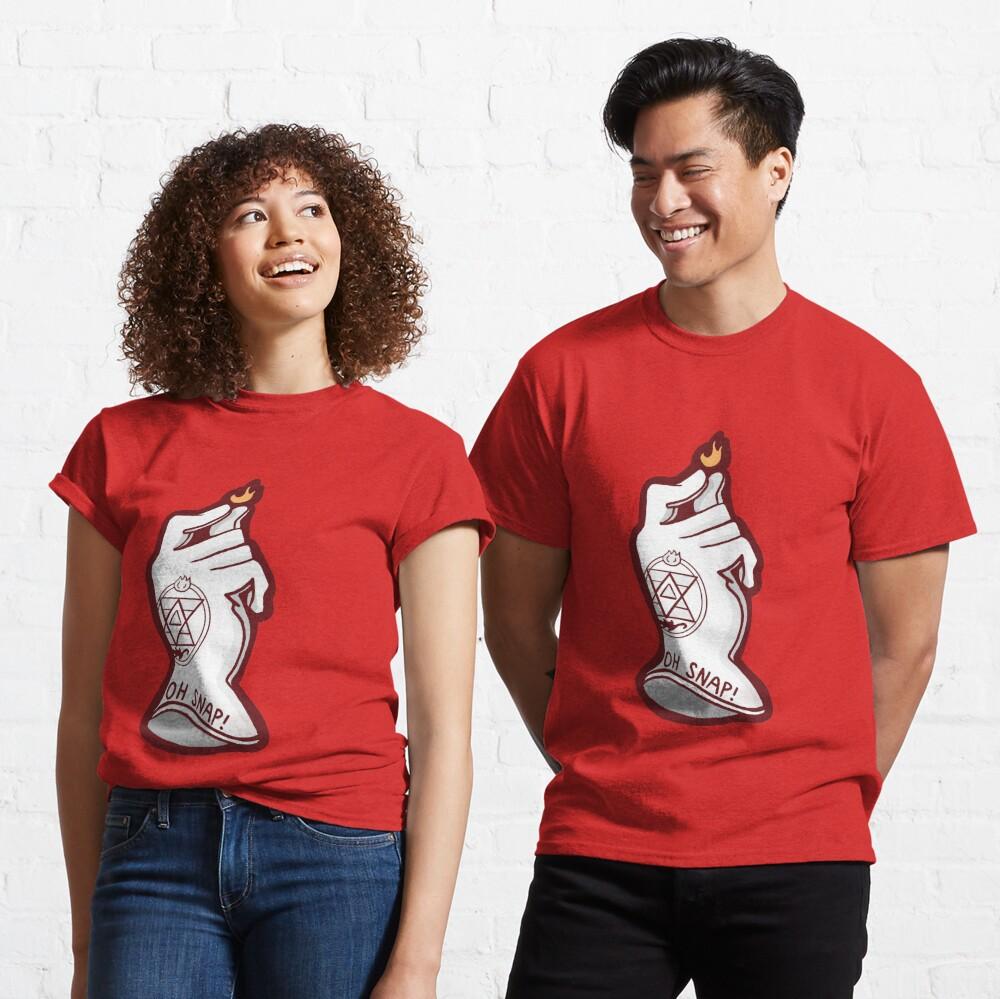 "Fullmetal Roy Mustang ""OH SNAP!"" art Classic T-Shirt"