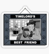 Timelord's Best Friend (Black & White) Sticker