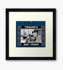 Timelord's Best Friend (Black & White) Framed Print