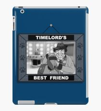 Timelord's Best Friend (Black & White) iPad Case/Skin
