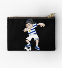 Uruguay Football Dabbing Soccer Girl With Soccer Ball And National Flag Jersey Futbol Fan Design Studio Pouch
