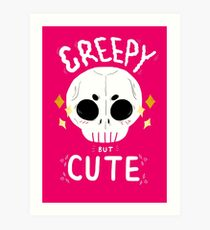 Creepy but cute Art Print