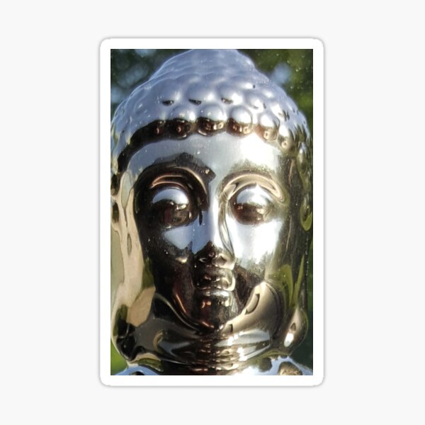 Silver Buddha Sticker