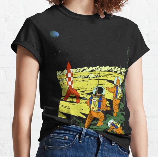 Tintin Adventurers on the Moon Classic T-Shirt