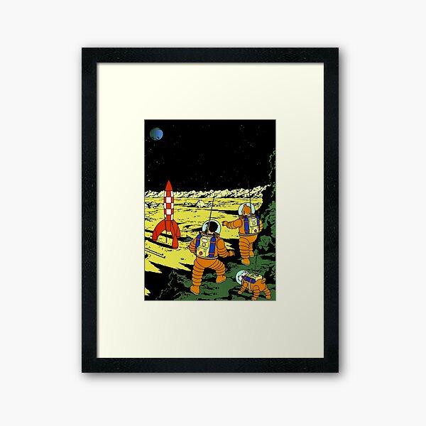 Tintin Adventurers on the Moon Framed Art Print