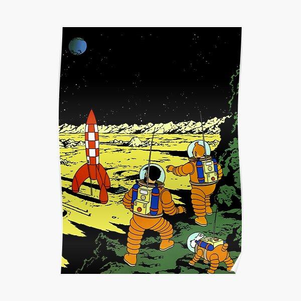 Tintin Adventurers on the Moon Poster