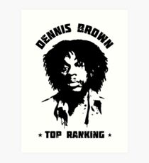 Top Ranking Dennis Brown Art Print