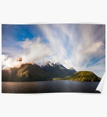 Glorious Light early in the Morning on Lake Manapouri Poster