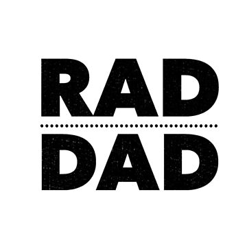 Father's Day Gifts Retro Rad Dad Daddy 90s Birthday Gift Tee by arnaldog