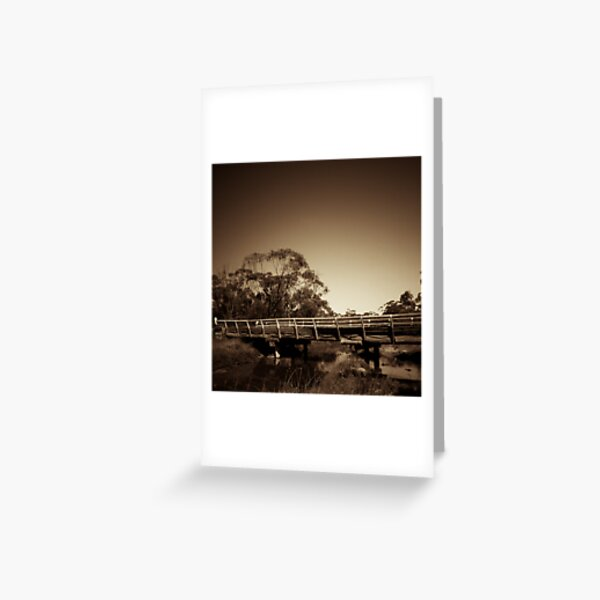 Old wooden bridge Greeting Card