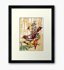 letterpress birds Framed Print