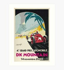 DK Mountain Grand Prix Art Print