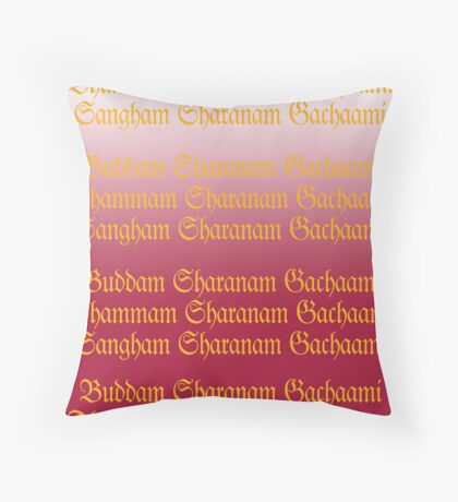 Buddam, Dhammam, Sangham Throw Pillow