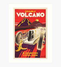 Grumble Volcano Grand Prix Art Print
