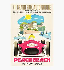 Pfirsichstrand Grand Prix Fotodruck