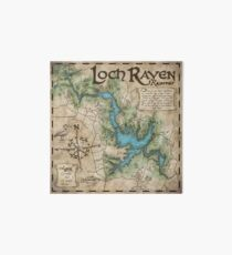 Loch Raven Reservoir Hiking Trail Map - Antique Cartography Art Board