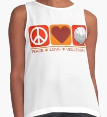 Peace Love Volleyball Contrast Tank