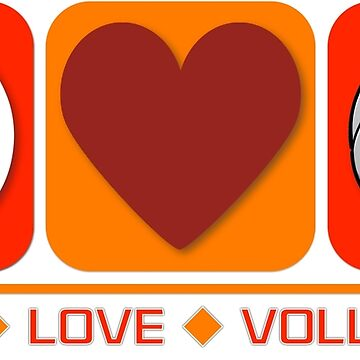 Peace Love Volleyball by OzyWear