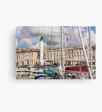 View of yachts in the old port, La Rochelle France Metal Print
