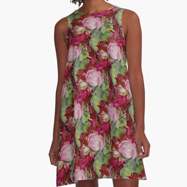 Old roses A-Line Dress
