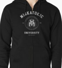 Miskatonic University [light] Zipped Hoodie
