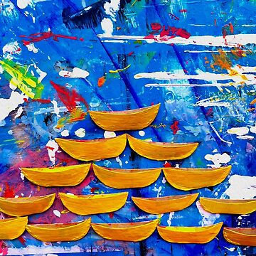 Sailboats - Oil on Canvas - 7032 x 5274, 300 px by BrunoBeach