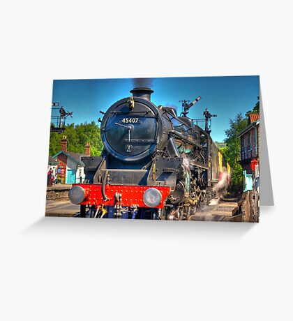 No.45407 at Grosmont Greeting Card