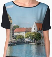 View of Lindau town, Bodensee, Germany Chiffon Top