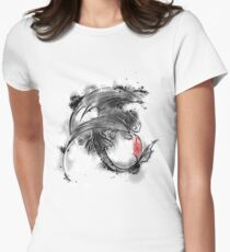 Sumi-e dragon Women's Fitted T-Shirt