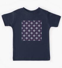 Geometric Pattern: Diamond Weave: Blue Kids Tee