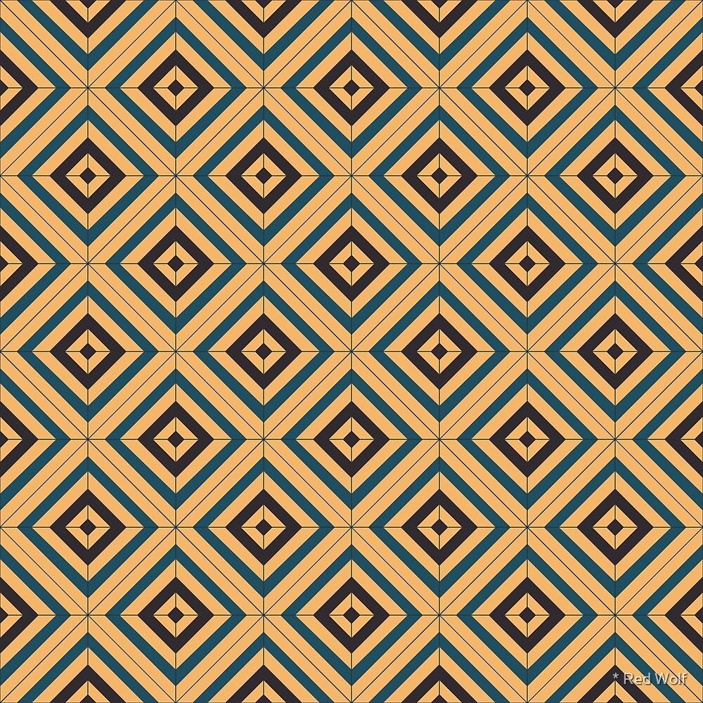 Geometric Pattern: Diamond Weave: Door by * Red Wolf