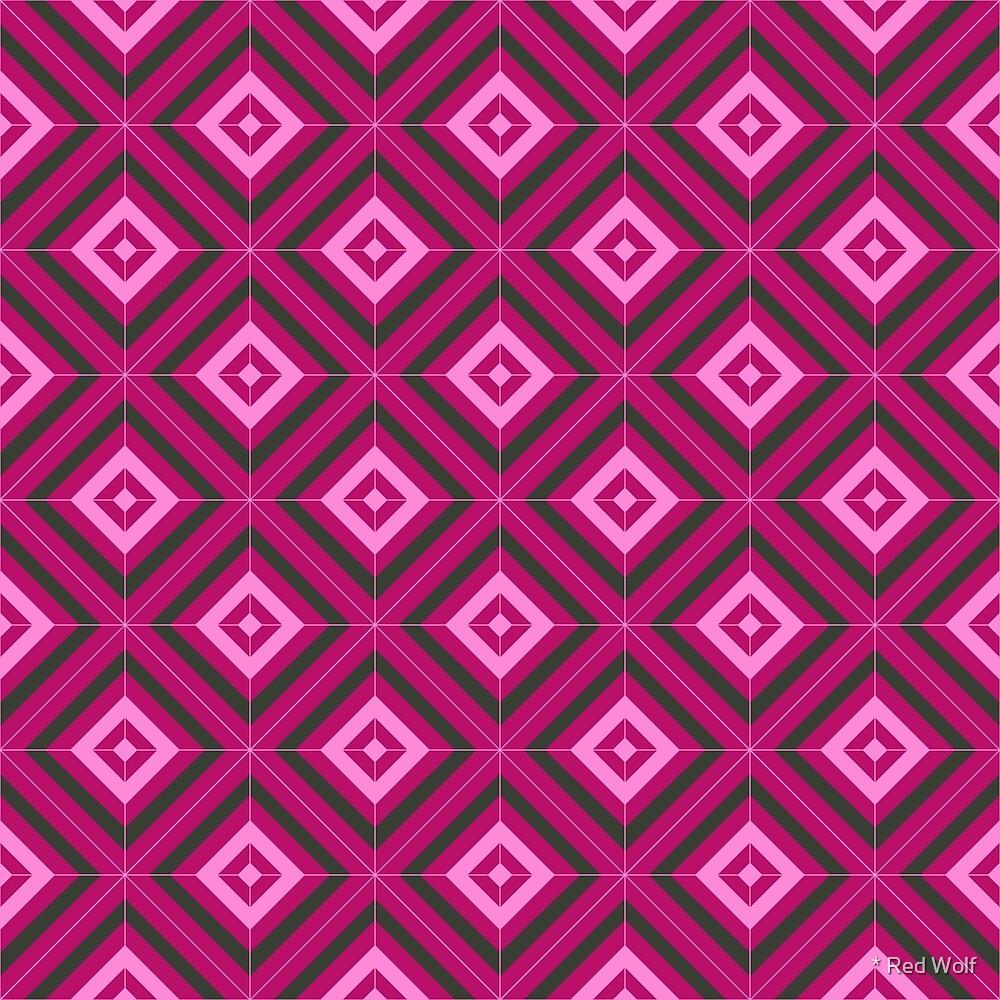 Geometric Pattern: Diamond Weave: Rose by * Red Wolf
