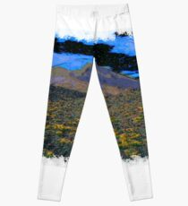 Volcano drawn Art Leggings