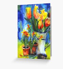 spring and daffodils Greeting Card