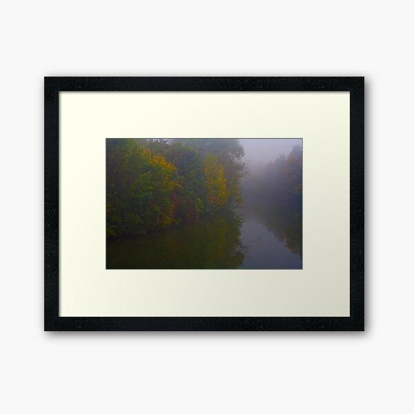 Fog Along The Tauber Framed Art Print
