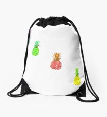 Flare pineapple Drawstring Bag