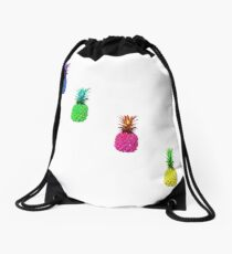 Colorful pineapple Drawstring Bag