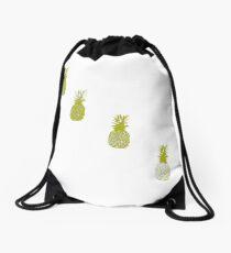 Golden pineapple Drawstring Bag