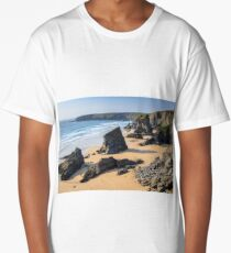 Bedruthan Steps | Cornwall seascape Long T-Shirt