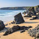 Bedruthan Steps   Cornwall seascape by Chris Warham