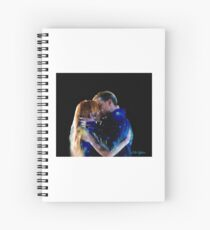 clace stary kiss Spiral Notebook