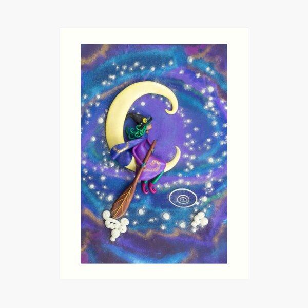 Sailing Amongst the Stars - Witch Art Art Print