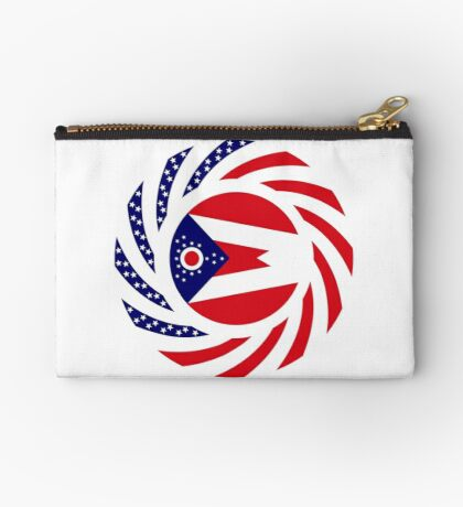 Ohio Murican Patriot Flag Series Zipper Pouch