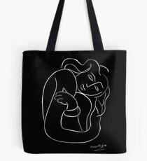 Bolsa de tela TAHITIAN LADY: Vintage Matisse Pintura en blanco y negro